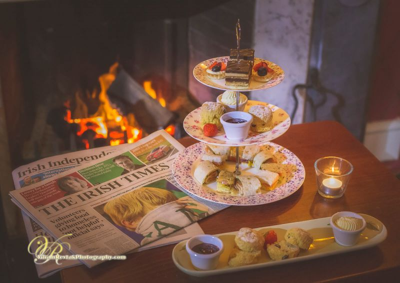 Coffee and Scones by the Fire at the Abbey