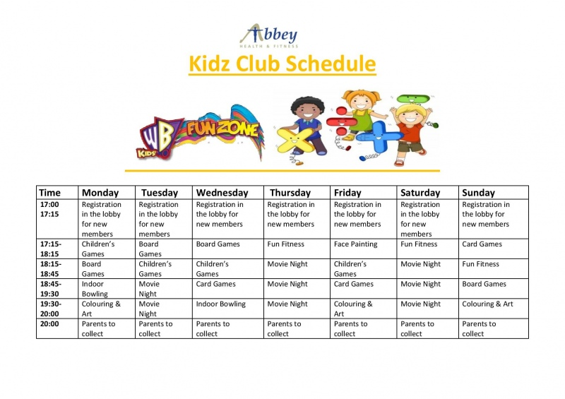 Kidz Club at the Abbey Hotel