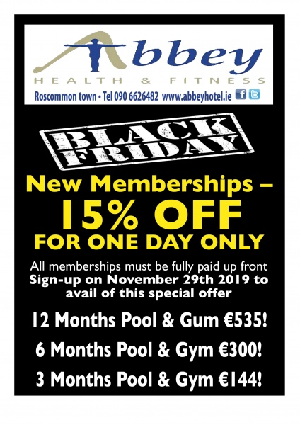 leisure centre black friday advert